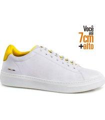 sapatenis fly alth 58059-03-branco-amarelo-42