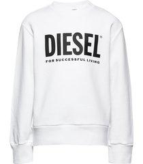 screwdivision-logo over sweat-shirt sweat-shirt trui wit diesel