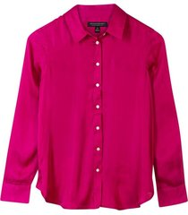 blusa dillon soft satin rosa banana republic