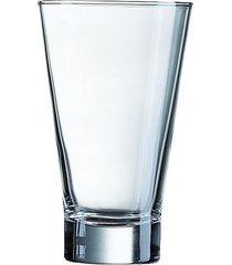 conjunto com 3 copos shetland em vidro 350ml luminarc