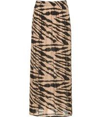 maxi-rok met zebraprint charlotte  zwart