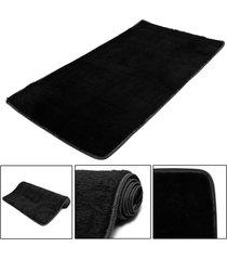 mat moda dormitorio estera del piso mullido manta antideslizante salón del hogar del amortiguador alfombra negro - negro