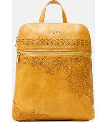 exotic embroidery backpack - yellow - u