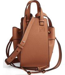 loewe mini hammock calfskin leather hobo bag - brown