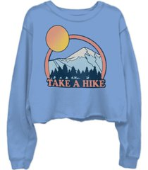 junk food cotton take a hike cropped sweatshirt