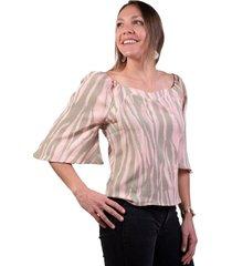 blusa cebra multicolor alexandra cid