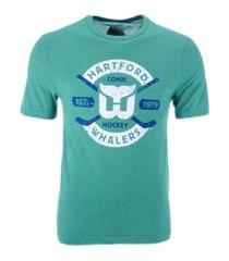 majestic hartford whalers men's tri-blend crease t-shirt