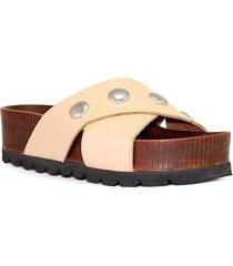 sandalia de cuero nude albany