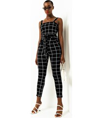 akira off the grid paper bag high waist plaid cigarette pants