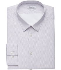 calvin klein fig print slim fit dress shirt