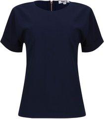 blusa m/c con guardapolvo color azul, talla 8