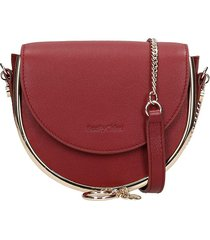 see by chloé mara small shoulder bag in bordeaux leather