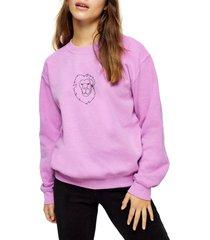 petite women's topshop lion sweatshirt