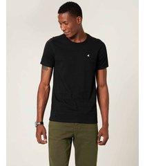 camiseta slim botonê malwee preto - pp