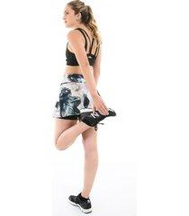 falda deportiva estampada con ciclista interno
