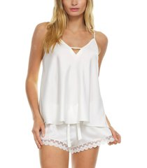 women's flora nikrooz victoria satin camisole, size x-large - ivory