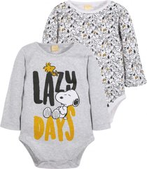 bipack body lazy gris snoopy