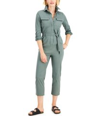 style & co tie-waist jumpsuit, created for macy's
