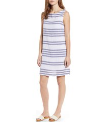 beachlunchlounge alina stripe linen & cotton shift dress, size x-small in sky at nordstrom