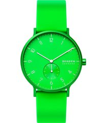 reloj fashion verde skagen