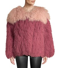 andie two-tone shearling jacket