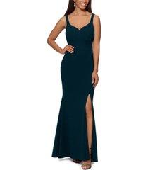 xscape high-slit evening gown