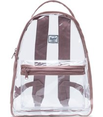 herschel supply co. nova clear mid volume backpack - pink