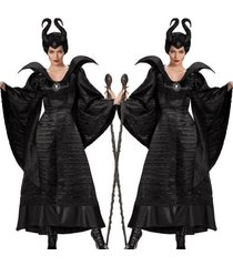 maleficent deluxe evil queen cosplay costume outfit ladies fancy dress adult
