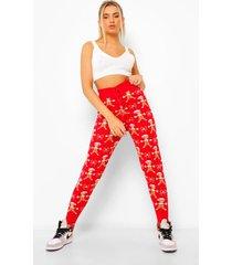 gebreide koekeman kerst leggings, red