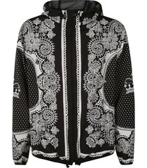 dolce & gabbana baroque print hooded jacket