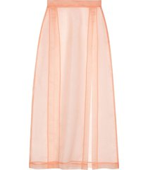 gucci sheer slit skirt - pink