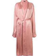 ann demeulemeester loose fit long kimono jacket - pink