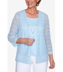 alfred dunner popcorn knit 2 for 1 top