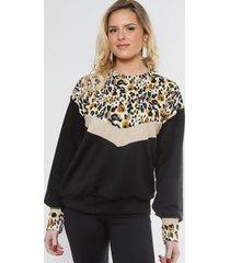 sweater roxy negro jaguar natalia seguel