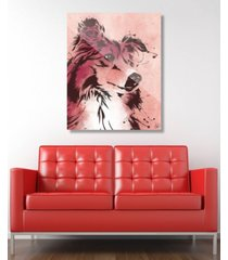 "creative gallery drippy sheltie dog in brown on red 24"" x 36"" acrylic wall art print"