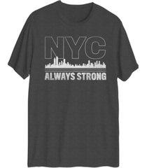 hybrid men's nyc always strong short sleeve t-shirt