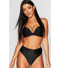 mix & match push up underwired moulded top, black