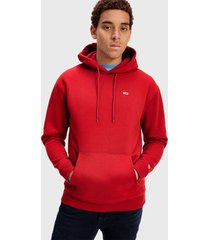 polerón tommy jeans tjm tommy classics hoodie rojo - calce regular