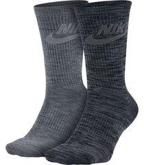 medias nike knit-gris oscuro/gris