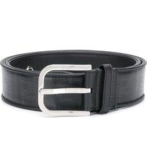 fendi ff monogram buckle belt - black