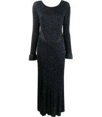 naxy lurex maxi dress
