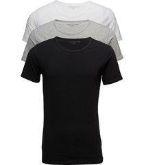 stretch cn tee ss 3pack t-shirts short-sleeved svart tommy hilfiger