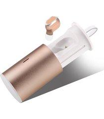 audifonos bluetooth inalámbrico manos libres con mic - oro