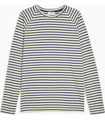 mens selected homme navy long sleeve stripe t-shirt