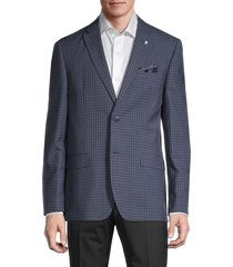 ben sherman men's checker jacket - navy - size 40 s
