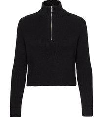 ingrid knitted sweater turtleneck polotröja svart gina tricot