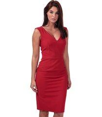 womens glass stretch v-neck dress
