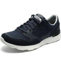 tenis training azul navy-blanco skechers city jogger