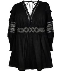 river island womens black sleeve detail cut out playsuit