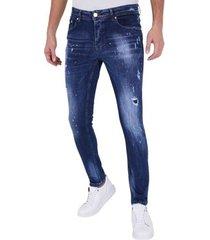 skinny jeans true rise paint drops spijkerbroek c